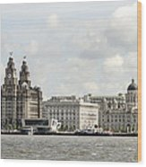 Ferry At Liverpool Wood Print
