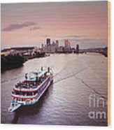 Ferry Boat At The Point In Pittsburgh Pa Wood Print