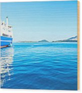 Ferry Boat On Port Wood Print