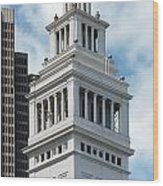 Ferry Building Clock Tower Wood Print