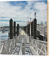Ferry Dock Wood Print