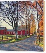 Ferry Lane November Sunset Wood Print