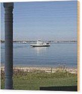 Ferry Shelter Island New York Wood Print