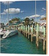 Ferry Station Paradise Island Wood Print