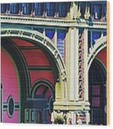 Ferry Terminal Arches At The Battery, New York Wood Print