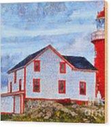 Ferryland Lighthouse In Newfoundland Wood Print