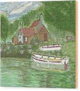 Ferryman's Cottage Wood Print