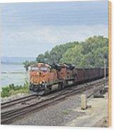 Ferryville Train Wood Print