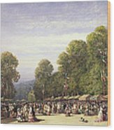 Festival At St. Cloud, C.1860 Wood Print