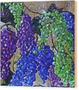 Festival Of Grapes Wood Print