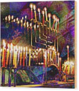 Festival Of Lights Wood Print