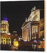 Festival Of Lights Gendarmenmarkt Berlin Wood Print