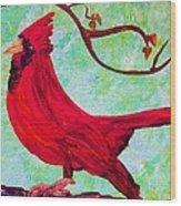 Festive Cardinal Wood Print