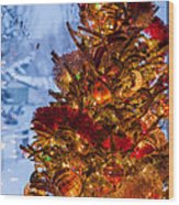 Festive Christmas Tree Wood Print