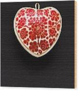 Festive Heart Wood Print