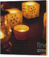 Festive Light Wood Print