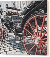 Fiaker Carriage In Vienna Wood Print