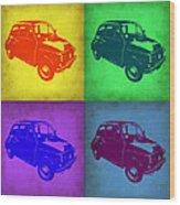 Fiat 500 Pop Art 1 Wood Print