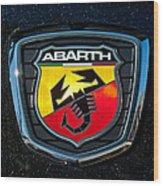 Fiat Abarth Emblem Wood Print