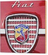 Fiat Emblem 2 Wood Print by Jill Reger