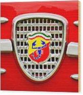 Fiat Emblem Wood Print by Jill Reger