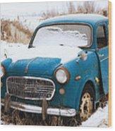Fiat Millecento Wood Print