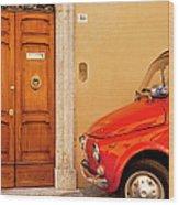 Fiat Parking Wood Print