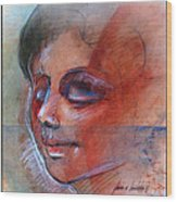 Fictitious Face 1981 Wood Print