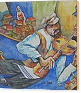 Fiddler On The Roofs Wood Print
