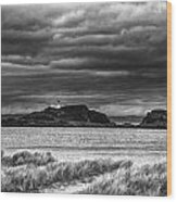Fidra Island Lighthouse Wood Print