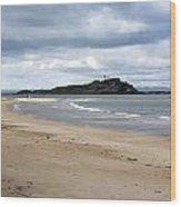Fidra Island Lighthouse Wood Print