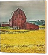 Field And Barn Wood Print