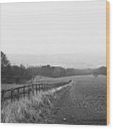 Field And Fence Wood Print