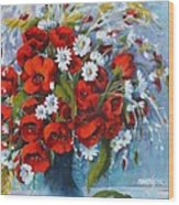 Field Bouquet 2 Wood Print