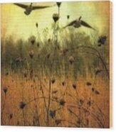 Field Dwellers  Wood Print