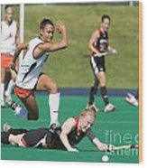 Field Hockey Hurdle Wood Print