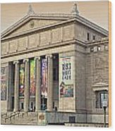Field Museum South Facade Wood Print