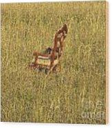 Field Of Chair Wood Print