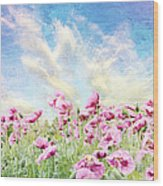 Field Of Poppies Stillliefe Wood Print
