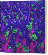 Field Of Purple Wood Print