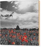 Field Of Red Wood Print