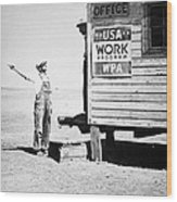 Field Office Of The Wpa Government Agency Wood Print