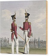 Field Officers Of The Royal Marines Wood Print