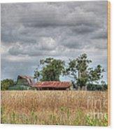 Fields Of Golden Grain Wood Print