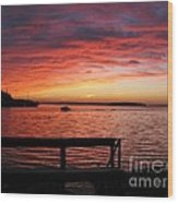 Fiery Afterglow Wood Print