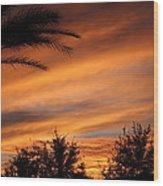 Fiery Arizona Sunset Wood Print