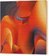 Fiery Color For Iphone Art Wood Print