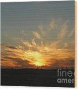Fiery Flare Wood Print