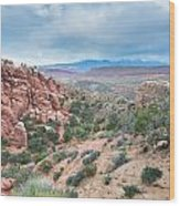 Fiery Furnace Viewpoint - La Sal Mountains - Arches National Park - Ut Wood Print