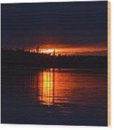 Fiery Glow  Wood Print